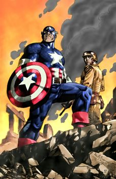 Captain America color by arissuparmanart