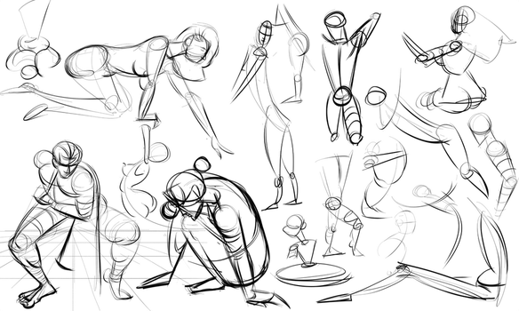 Warmups 10-14-14 by wadedraws