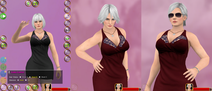 Christie in Evening Dress Harassing Minigame HTML5 by mygamem
