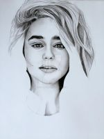 Emilia Clarke WIP 2 by Anthony-Woods