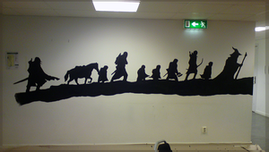 Fellowship on the Wall by Crazzity