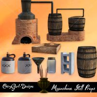 Moonshine Still Props by CntryGurl-Designs