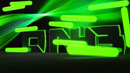green dnb neon by LinehoodDesign