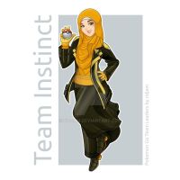 Pokemon Go Leader of Team Instinct in Hijab versio by RIDJAM