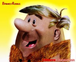 Barney Rubble Untooned by mataleoneRJ