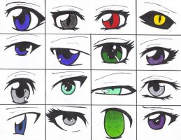 Eyes of some of my OCs by tasumichan