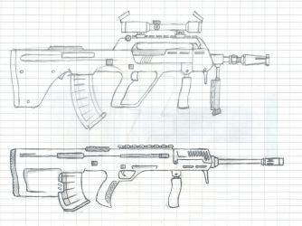 Sketches - Bullpup Designs by sundavid168