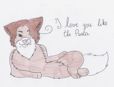 I love you like the Pasta by PrinceUseless