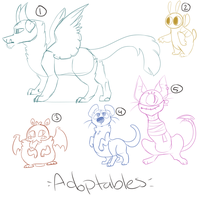 Adoptables (Set Price) 5/5 OPEN by JennDragonArts