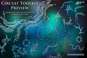 100 Circuit Brushes (Toolkit Preview) by XResch