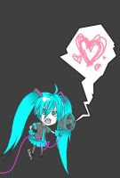 Chibi Miku - Love is war by Yushuyu