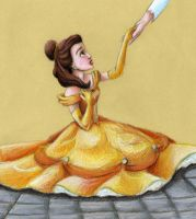 Beauty Belle after the Beast Changes by SpyroShurtagul