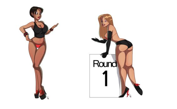 Zombo PinUp Gals by TheCosbinator