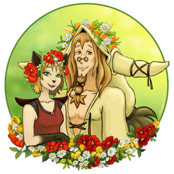 Among the Flowers by Amadeo-Amadeo