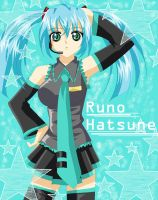 Runo's Cosplay: Miku Hatsune by CocoPink