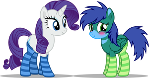[OFR RQ] Rarity and Flashy in Socks by CyberApple456