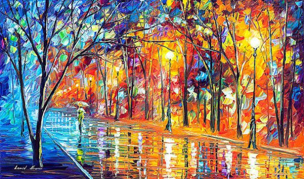 Misty Night by Leonid Afremov by Leonidafremov