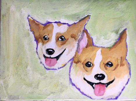 Corgi painting for Andy by farrellart
