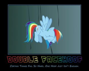 Double Facehoof, Rainbow Dash by AtomicGreymon