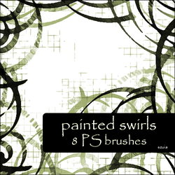 painted swirls brushes by szuia
