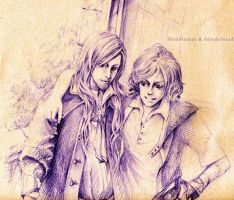 Dumbledore and Grindelwald by icansee