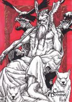 Odin Sketch Card - Nestor Celario Jr. by Pernastudios