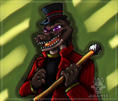 .:Crocodile:. Commission by JuliArt15