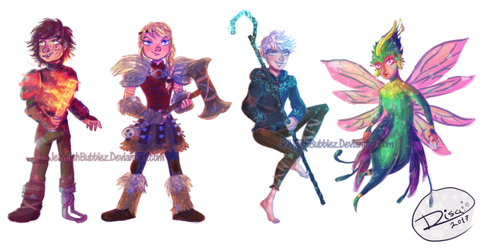 Httyd and Rotg by Jellyfishbubblez