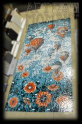 Balloon and poppy in glass mosaic (1500x3000mm) by Artmoment-Rus