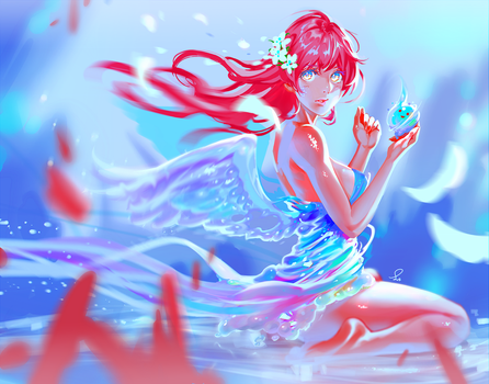 Water fairy by ERU-ART