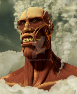 Colossal titan bust by JELSIN