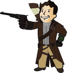 Fallout New Vegas: James Summerset Vault Boy Icon by Setchman911