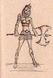 Female-warrior Concept 001 1 by Dtrain1