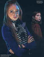 Amy Pond - Karen Gillan and Caitlin Blackwood by The-Art-of-Ravenwolf