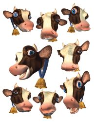 cow faces by bamaricle
