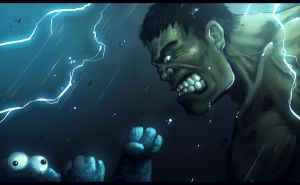 Hulk vs Cookie monster ! by Fred-H