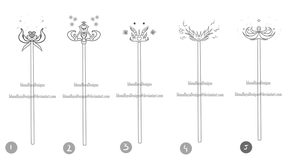 [closed] magical staffs by IdunaHayaDesigns