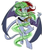 Demona Casting a Spell by laurean