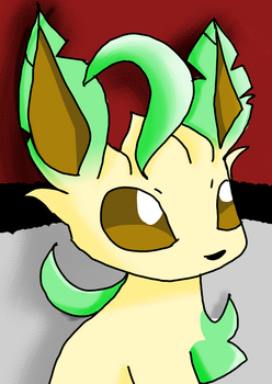 Leafeon idk made in 15mins :p by FireLiIly