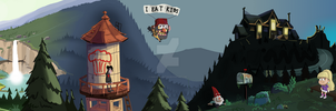 Gravity Falls Panorama by hairydarlington