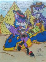 izzy the wolf y fang the sniper para izzy OwO by King-Fire-Storm