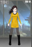 Jacqueline in Star Trek: TOS Style by suburbantimewaster