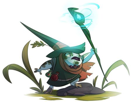 Rainfrog mage by CoconutMilkyway