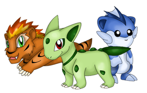 New pokemon starters by Gie