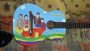 Guitarra de The beatles by KyubiNabruto