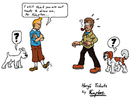 Kimpton and Tintin by MDKartoons