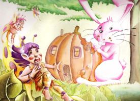 The Fairies and the Rabbit by Mawee1034