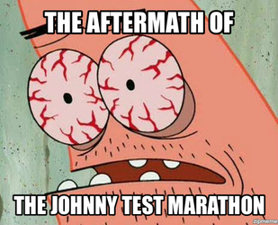Patrick's Reaction to Johnny Test by TRC-Tooniversity