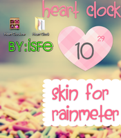 Skin For Rainmeter Heart Clock by Isfe