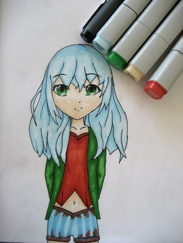 4 colour chalenge||copic markers by Orinkatwinka